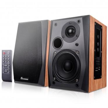 Remote Control Active Powered Bluetooth Bookshelf Speakers