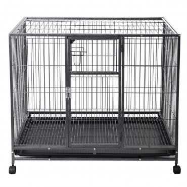 44 in. x 29 in. Metal Wire Pet Crate Cage