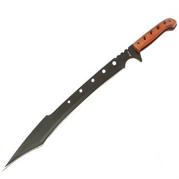 26 in. Machete Rosewood Handle Sharp Blade Ninja Sword