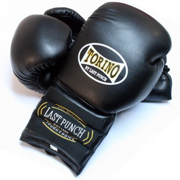 14 oz Black Torino Boxing Gloves Heavy Duty