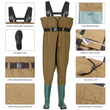 Fishing Nylon PVC Waterproof Chest Wader