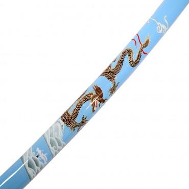 40.5 in. Sky Blue Collectible Dragon Katana Samurai Sword Ninja