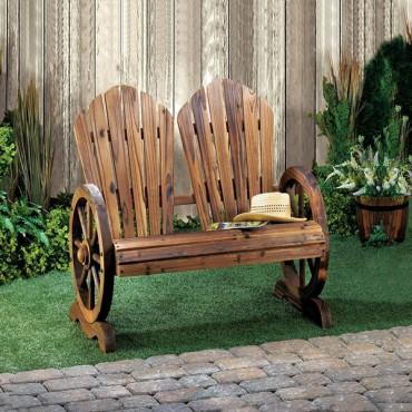 Wagon Wheel Couple Chair