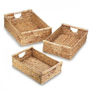 Water Hyacinth Nesting Basket Set