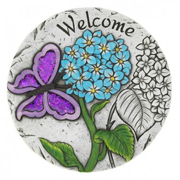 Welcome Butterfly Garden Stepping Stone
