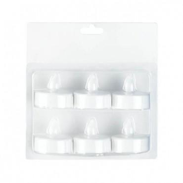 White LED Tealight 6 Pack