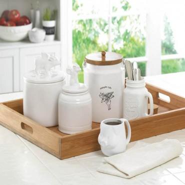 White Mason Jar With Cork