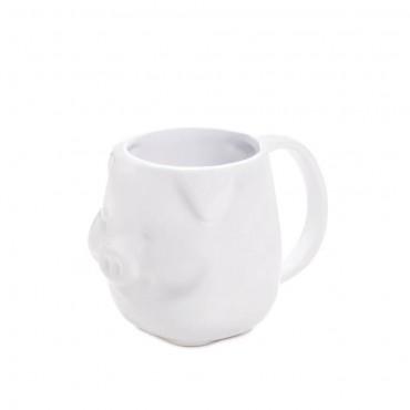 White Piggy Mug