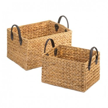 Wicker Storage Baskets Duo