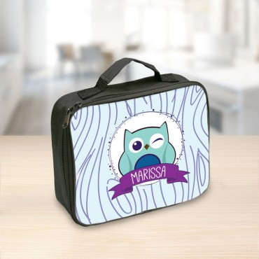 Winking Owl Personalized Lunch Tote