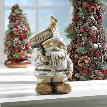 Winter Gnome Figurine