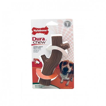 Nylabone Dura Chew Hollow Stick - Bacon Flavor - Wolf - 1 Pack - 2 Pieces