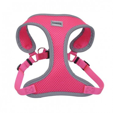Coastal Pet Comfort Soft Reflective Wrap Adjustable Dog Harness - Neon Pink - X - Small - 16-19 in. Girth - 5/8 in. Straps