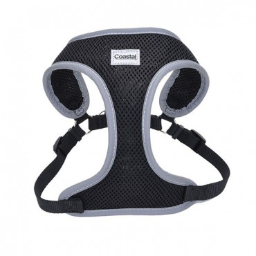 Coastal Pet Comfort Soft Reflective Wrap Adjustable Dog Harness - Black - X - Small - 16-19 in. Girth - 5/8 in. Straps