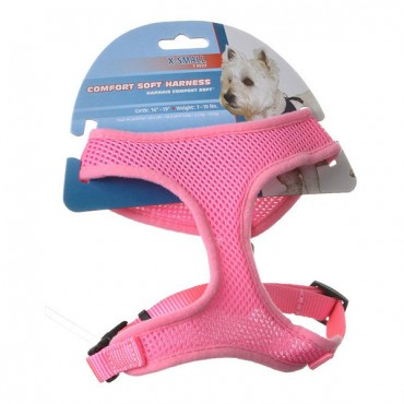 Coastal Pet Comfort Soft Adjustable Harness - Pink - X Small - Dogs 7-10 lbs - Girth Size 16 in. - 19 in.