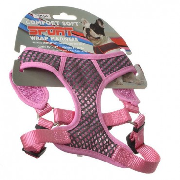 Coastal Pet Sport Wrap Adjustable Harness - Pink - X - Small - Girth Size 16 in. - 19 in.