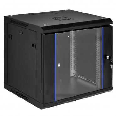 6U Wallmount Data Network Cabinet With Locking Glass Door