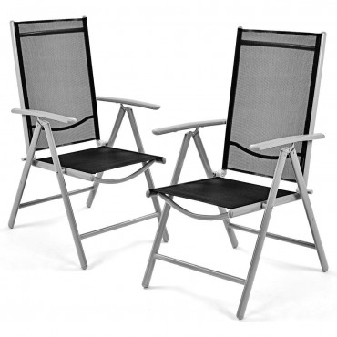 Set Of 2 Rattan Patio Cushioned Chairs