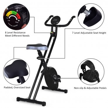 Resistance Adjustable Folding Magnetic Exercise Bike