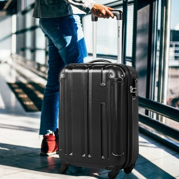 18 In. ABS Lightweight Hardshell Luggage Suitcase With 4-Wheel