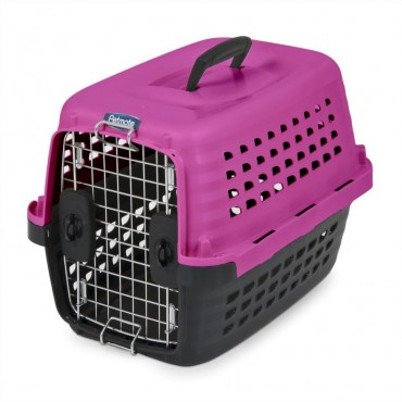 Petmate Compass Kennel - Black and Hot Pink - X-Small - 19 L x 12.7 W x 11.5 H 1-10 lbs