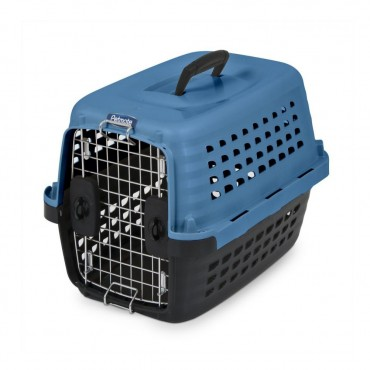 Petmate Compass Kennel - Blue and Black - X-Small - For Dogs up to 10 lbs - 19 L x 12.7 W x 11.5 H