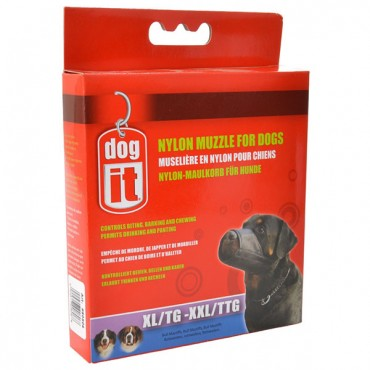 Dog It Nylon Muzzle for Dogs - XX-Large - 9.4 in. Long - 3 Pieces
