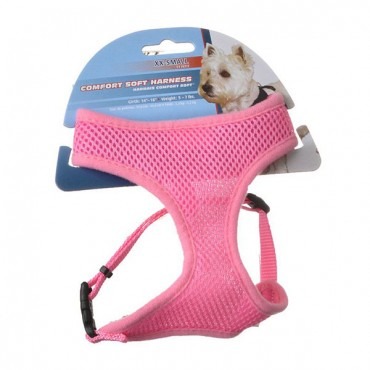 Coastal Pet Comfort Soft Adjustable Harness - Pink - XX - Small - Dogs 5-7 lbs - Girth Size 14 in. - 16 in. - 2 Pieces