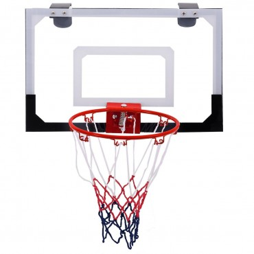 Over-The-Door Mini Basketball Hoop Includes Basketball And Hand Pump