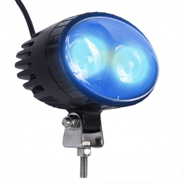 3.5 In. 10W Blue Forklift Safety Light Cree LED Work Lamp Flood Beam Car Truck Boat