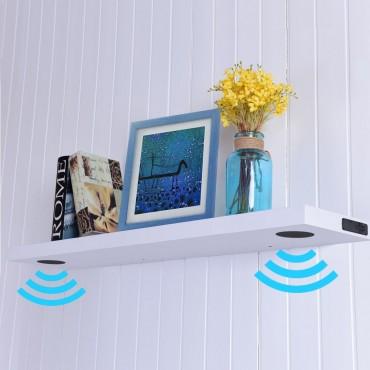48 In. L Wall Mount Bluetooth Wireless Or USB Speaker Shelf