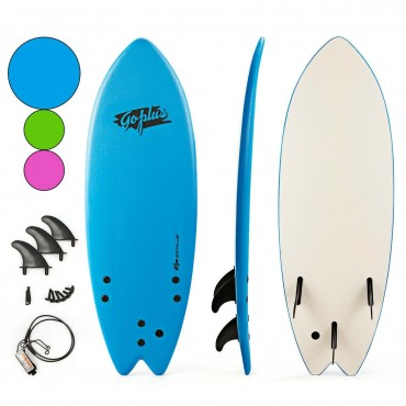 5 Ft. 5 In. Ocean Foamie SurfBoard With Rope And 3 Fins