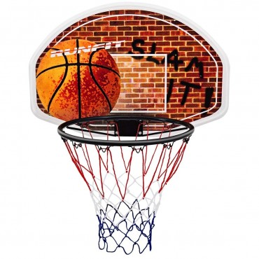 Wall Mounted Fan Backboard With Basketball Hoop And Rim