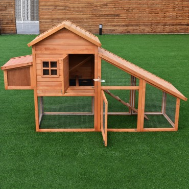 75 In. Deluxe Wooden Chicken Coop